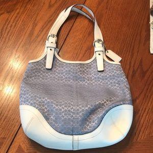 Periwinkle blue Coach purse